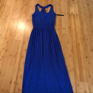 Felicity & Coco cobalt blue maxi halter dress